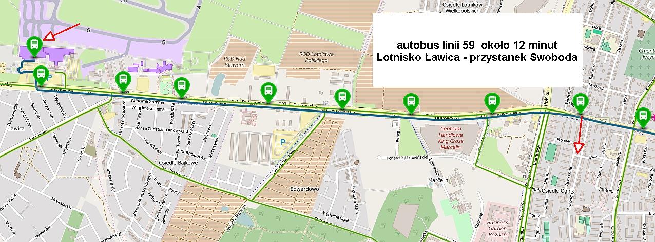 Gabinet zlokalizowany jest blisko Lotniska Ławica w Poznaniu.